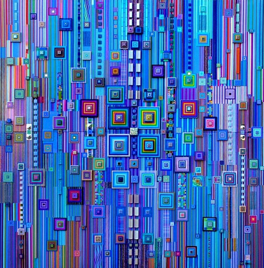 Robert Swedroe, Paragon in Blue 2008, Original Mixed Media