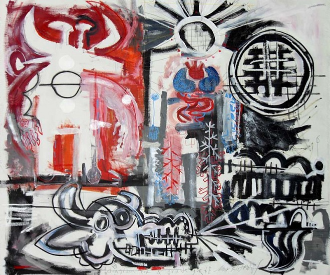 Mark T. Smith, Diagram of Life 2010, Mixed Media on Canvas