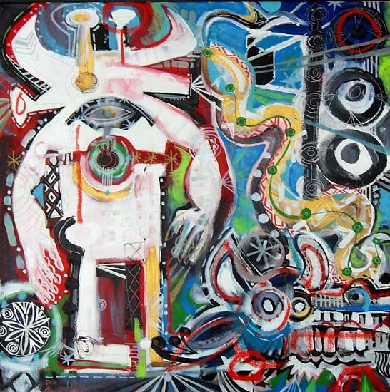 Mark T. Smith, Death of a Charlatan 2010, Mixed Media on Canvas