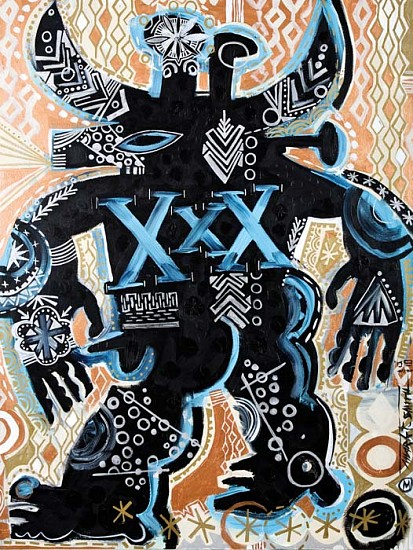 Mark T. Smith, Bull XXX 2009, Mixed Media on Canvas