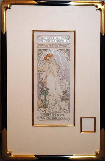 Alphonse Mucha, La Dame aux Camelias 1898, Matires de l'Affiche Lithograph