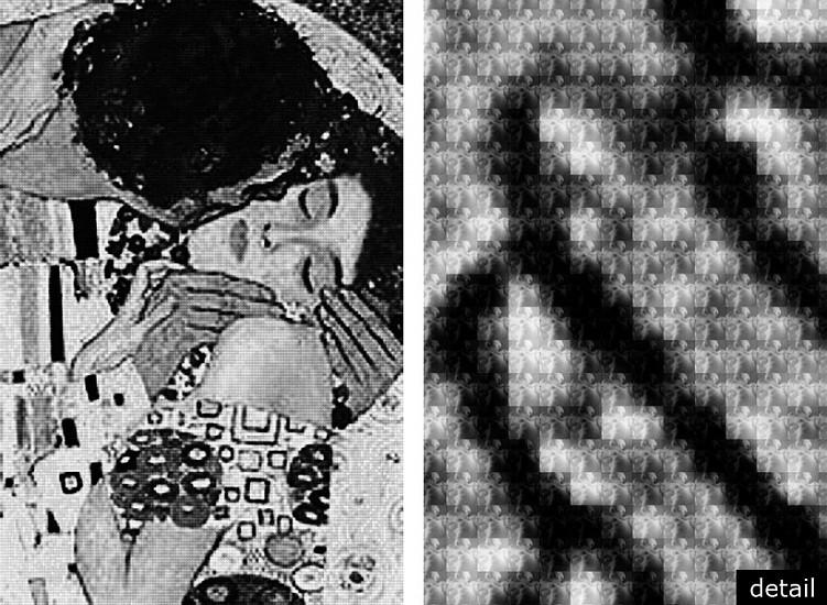 Alex G. Cao, KISS KLIMT vs RODIN 2012, Chromogenic Print with Dibond Plexiglass