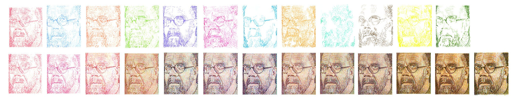 Displaying 18 gt images for chuck close self portrait 2000