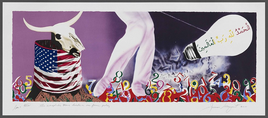 James Rosenquist, The Xenophobic Movie Director or Our Foreign Policy 2011, 15-Color Lithograph