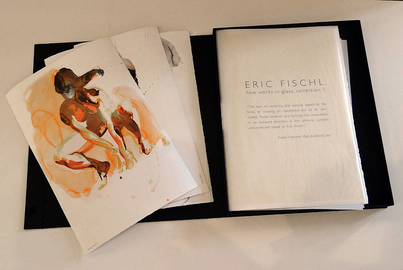 Eric Fischl, New Works on Paper and in Cast Glass (Portfolio), (Arching Woman, Tumbling Woman, Crouching Woman) 2012, 3 limited edition pigment prints on watercolor paper
