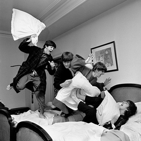 Harry Benson, Beatles Pillow Fight, George V Hotel, Paris 1964, Archival Pigment Print