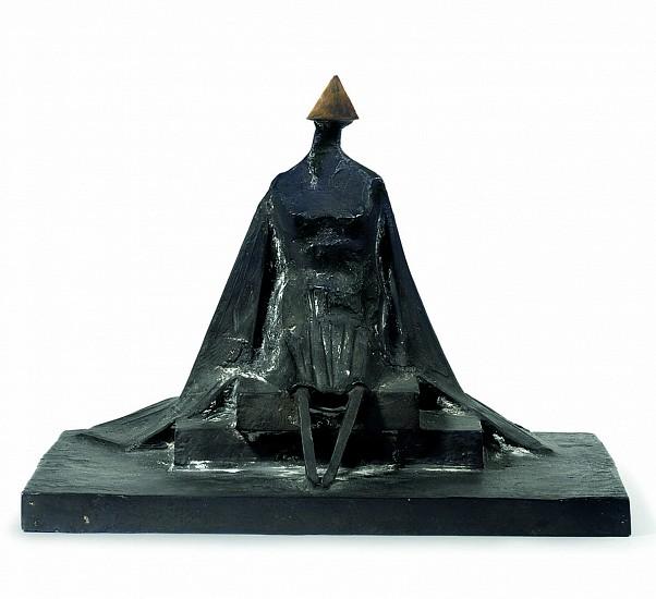 Lynn Chadwick, Sitting Woman in Robes III 1987, Bronze Sculpture