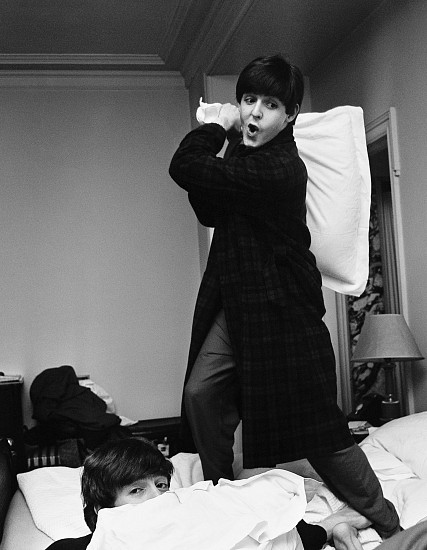 Harry Benson, Paul hits John, Pillow Fight, George V Hotel, Paris 1964, Archival Pigment Print