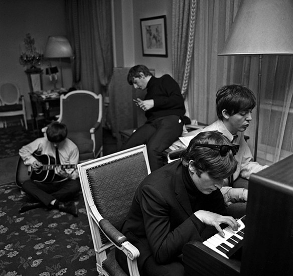 Harry Benson, Beatles Composing, Paris 1964, Archival Pigment Print