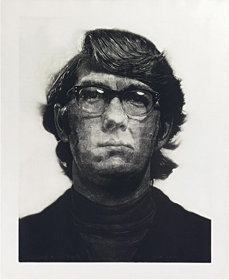 Chuck Close, Keith / Mezzotint 1972, Mezzotint
