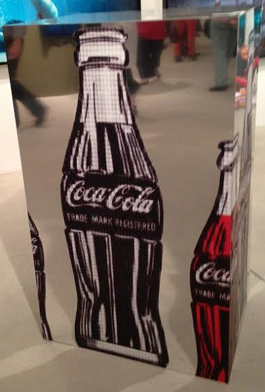 Alex G. Cao, America's Favorite Moment: CocaCola vs JFK, After Warhol 2013, Mirrored Surface Sculpture