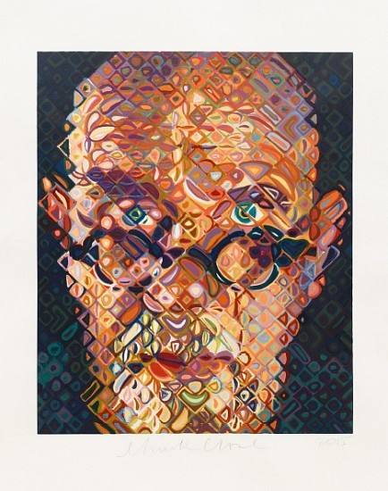 Chuck Close, Self-Portrait 2015, 84 Color Woodcut