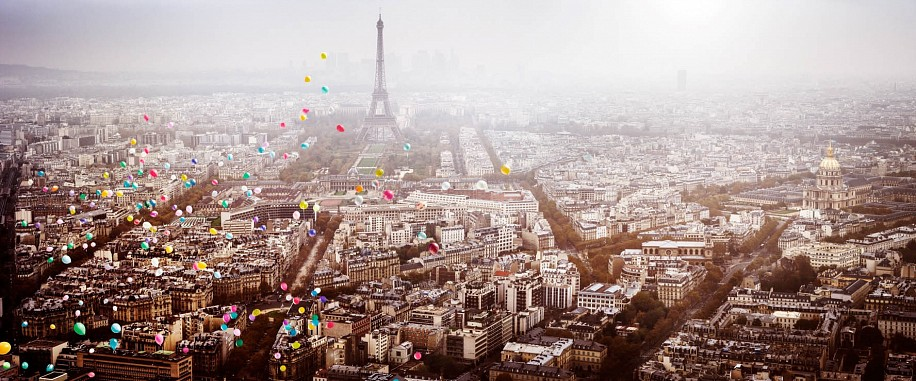 David Drebin, Balloons over Paris 2016, Digital C Print