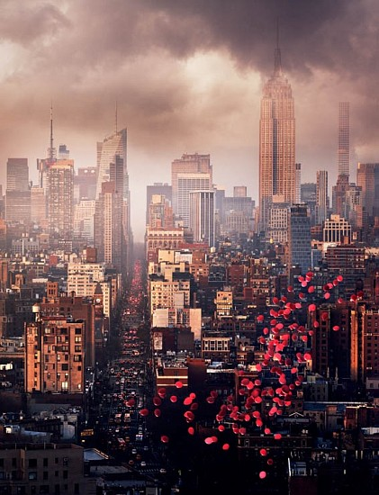 David Drebin, Balloons over New York 2016, Digital C Print