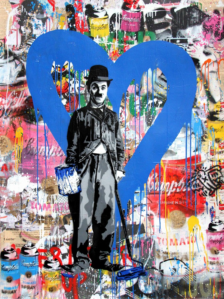 Mr. Brainwash ,   Chaplin  ,  2017     64 x 48 inches