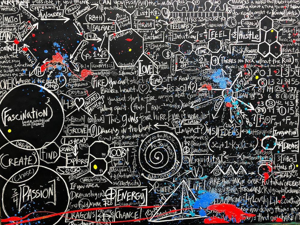 Brendan Murphy, Chalkboard Series: Fascination 2018