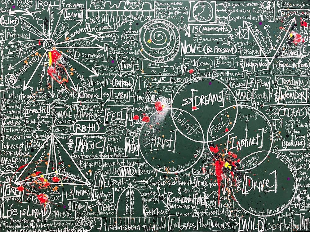 Brendan Murphy, Chalkboard Series: Think 2018