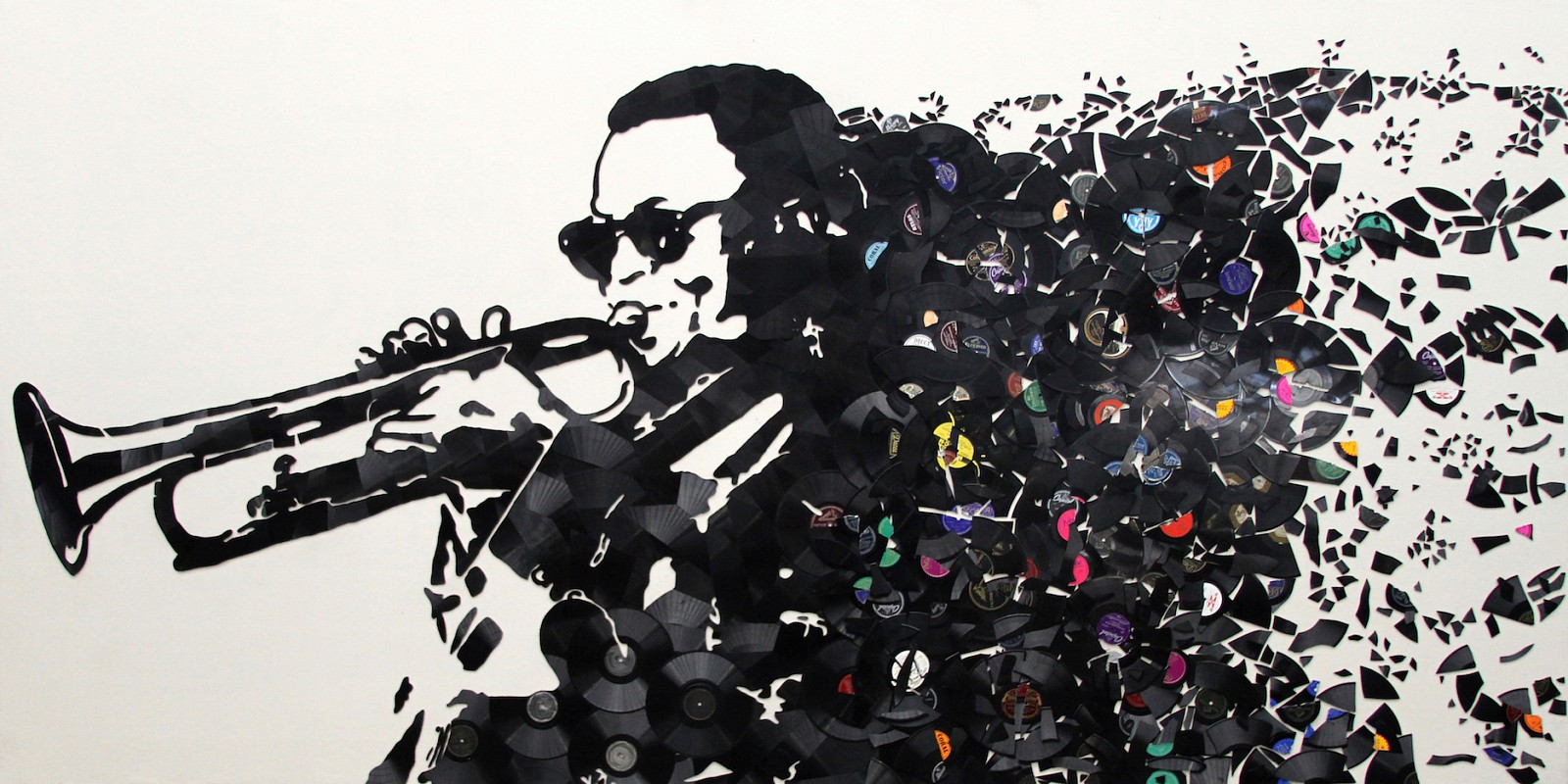 Mr. Brainwash ,   Miles Davis  ,  2018     72 x 144 inches